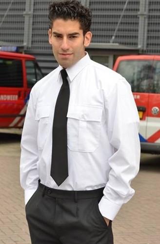 ACTIE 4+1 GRATIS Heren Pilot shirt - LM Wit